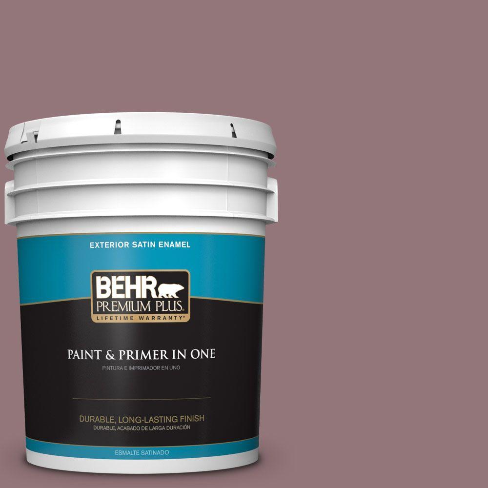 BEHR Premium Plus 5-gal. #N120-5 Plumville Satin Enamel Exterior Paint