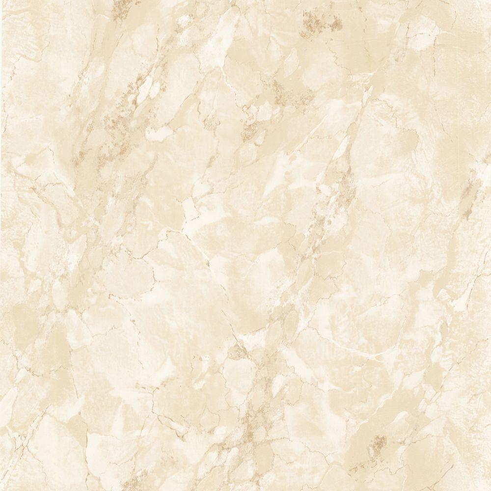 The Wallpaper Company 8 in. x 10 in. Beige Marble Faux Finish Wallpaper Sample