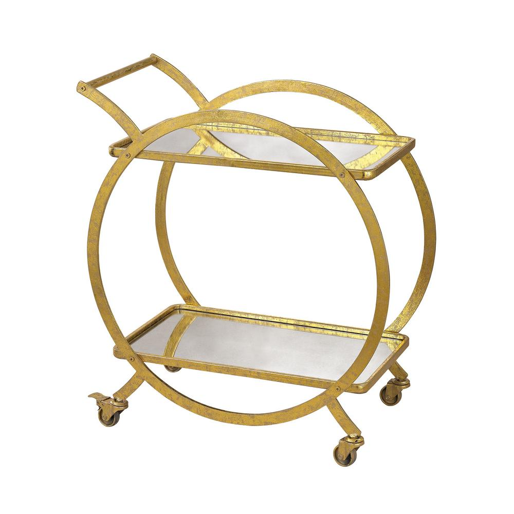 An Lighting Ring Gold Bar Cart