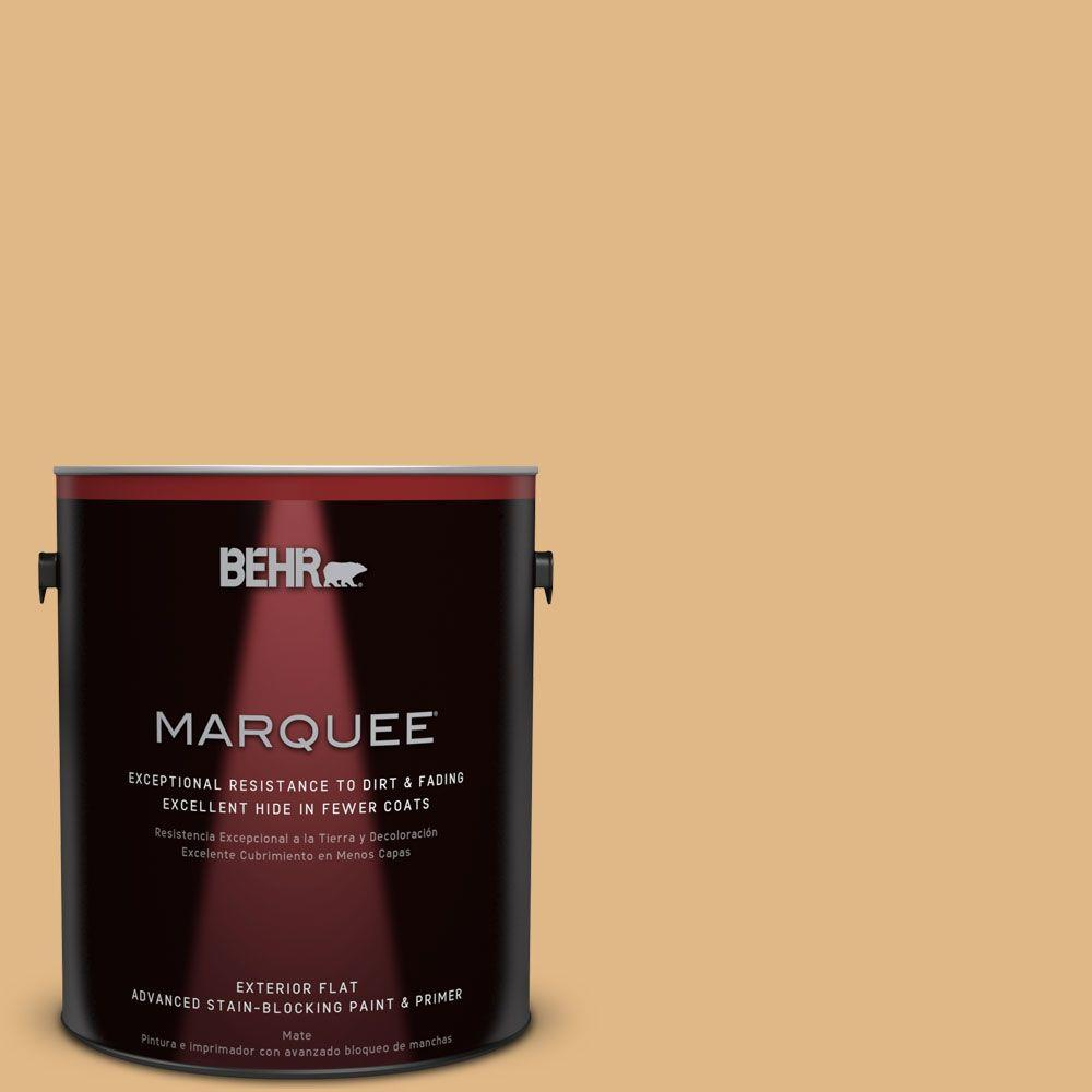 BEHR MARQUEE Home Decorators Collection 1-gal. #HDC-CL-18 Cellini Gold Flat Exterior Paint