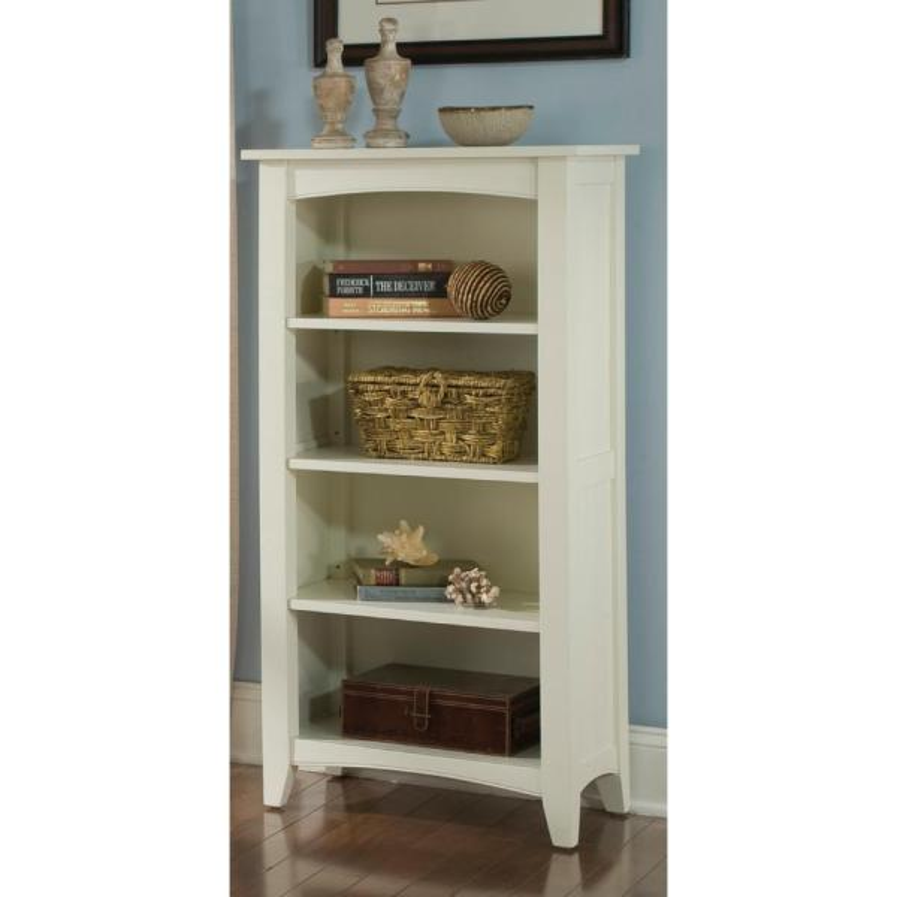 Alaterre Furniture Shaker Cottage Ivory Open Bookcase ASCA08IV