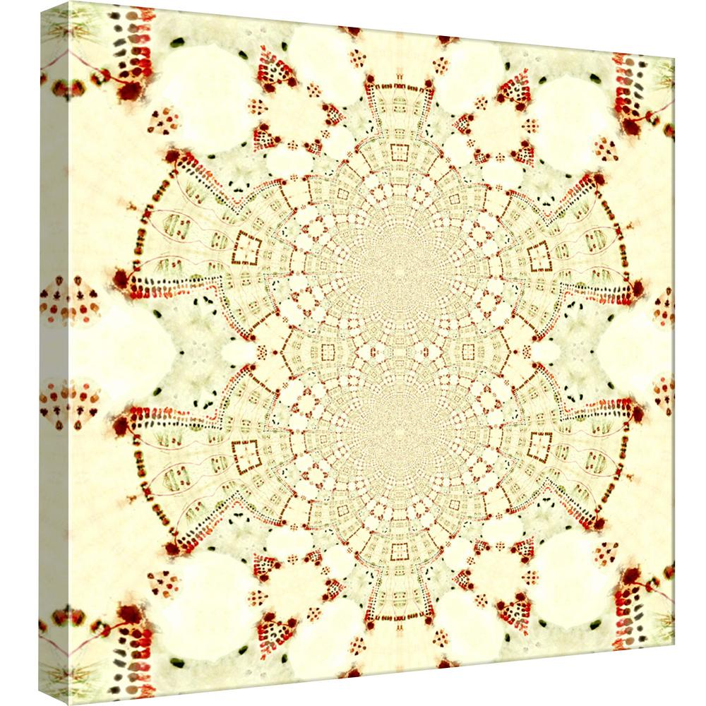 PTM Images 15.in x 15.in \'\'Red Cream 4\'\' Printed Canvas Wall Art-9 ...