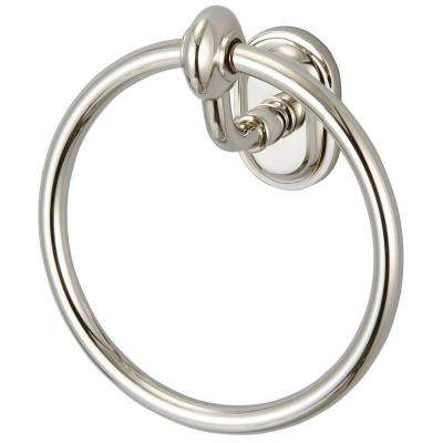 Glass Series Towel Ring in Polished Nickel PVD