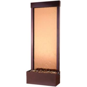 Click here to buy Bluworld of Water 48 inch Floor Fountain Bronze Mirror and Rear Mounted Dark Copper Frame by Bluworld of Water.