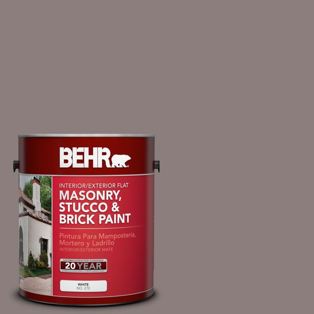 BEHR Premium 1-gal. #MS-89 Folkstone Flat Interior/Exterior Masonry, Stucco and Brick Paint