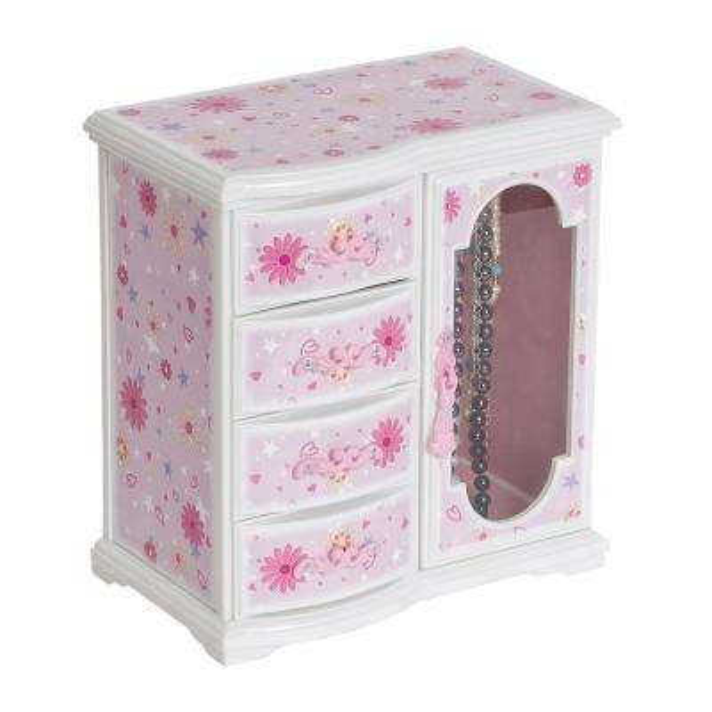Hyacinth Girl's Pink Plastic Musical Ballerina Jewelry Box
