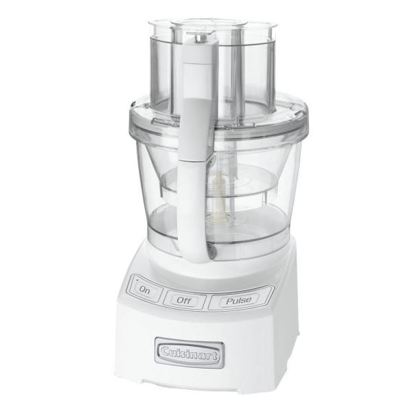 Cuisinart Elite 12-Cup White Food Processor with SealTight Advantage System
