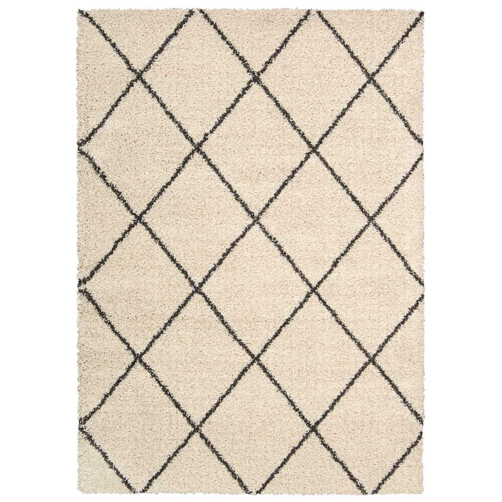 Nourison Brisbane Shag Ivory Charcoal 8 Ft X 10 Area Rug