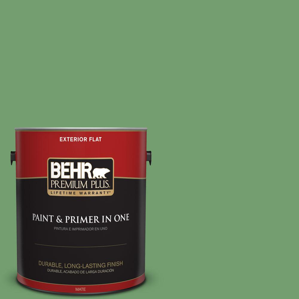 1-gal. #450D-6 Shire Green Flat Exterior Paint