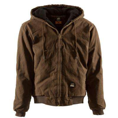 Men's Large Bark Duck Original Washed Hooded Jacket