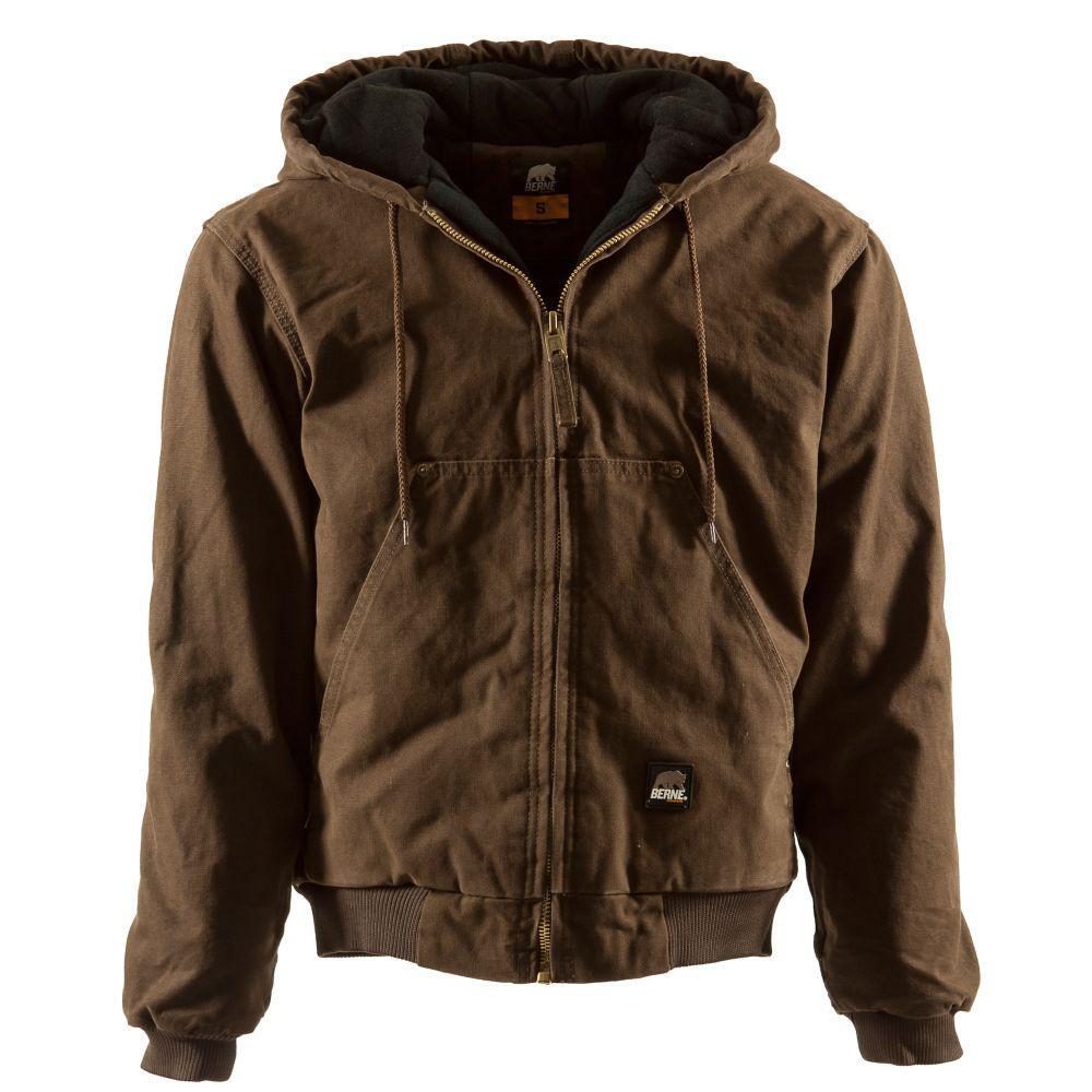 Men's Medium Bark Duck Original Washed Hooded Jacket