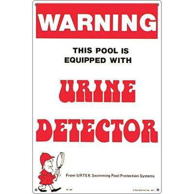 Residential or Commercial Swimming Pool Signs, Urine Detector