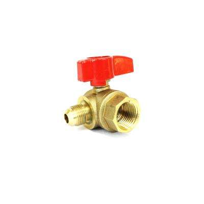 5/8 in. Flare x 1/2 in. FIP Angle Gas Ball Valve (2-Pack)