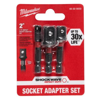 SHOCKWAVE Impact Duty 1/4 in. Hex Shank Socket Adapter Set (3-Piece)