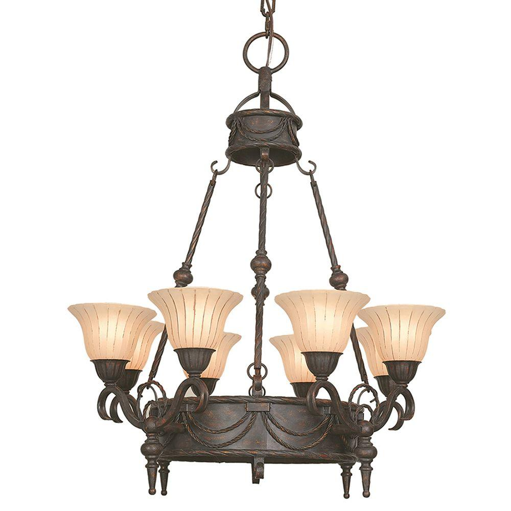 Yosemite Home Decor Isabella Collection 8-Light 43.5 in. Hanging Chandelier