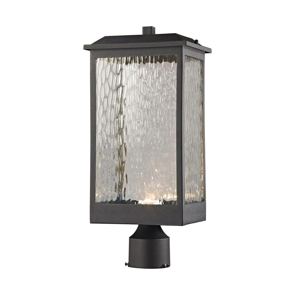 Garden Decor Newcastle: Titan Lighting Newcastle Matte Black Outdoor LED Post