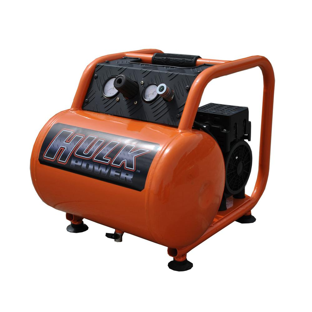 5 Gal. 1 HP Portable Electric-Powered Hotdog Silent Air Compressor