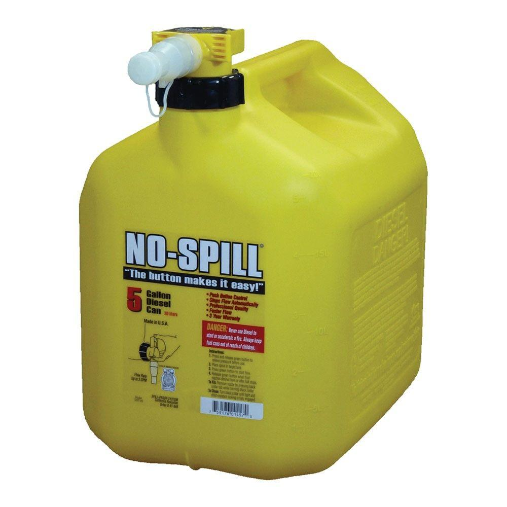 No Spill 5 Gal Poly Diesel Can 1457 V6 The Home Depot