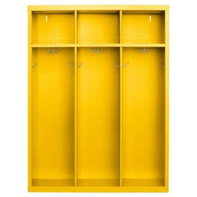 1-Shelf Steel Open Front Kids Locker in Yellow
