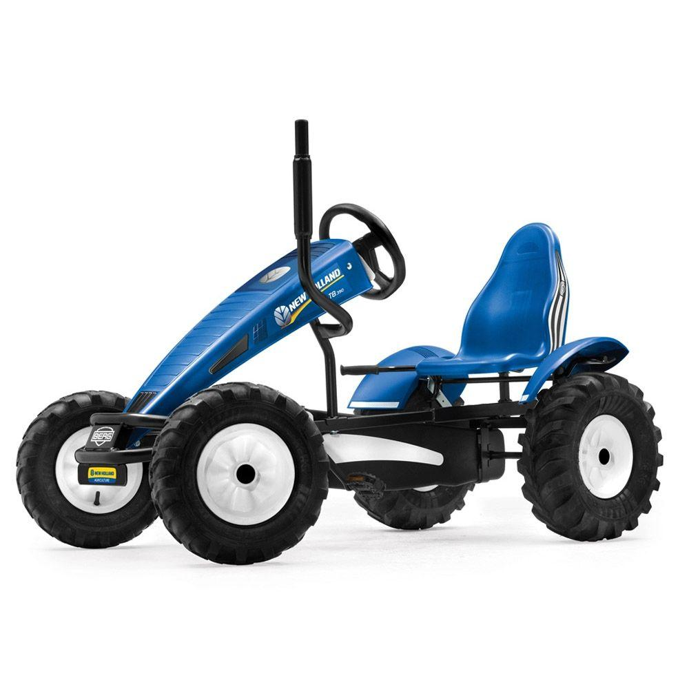 BERG New Holland AF Blue Pedal Go-Kart Tractor, Blues