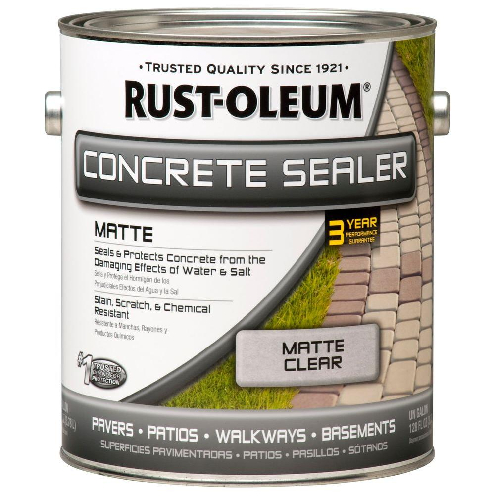 Rust Oleum 1 Gal Concrete Low Lustre Sealer Case Of 2 260432 The Home Depot