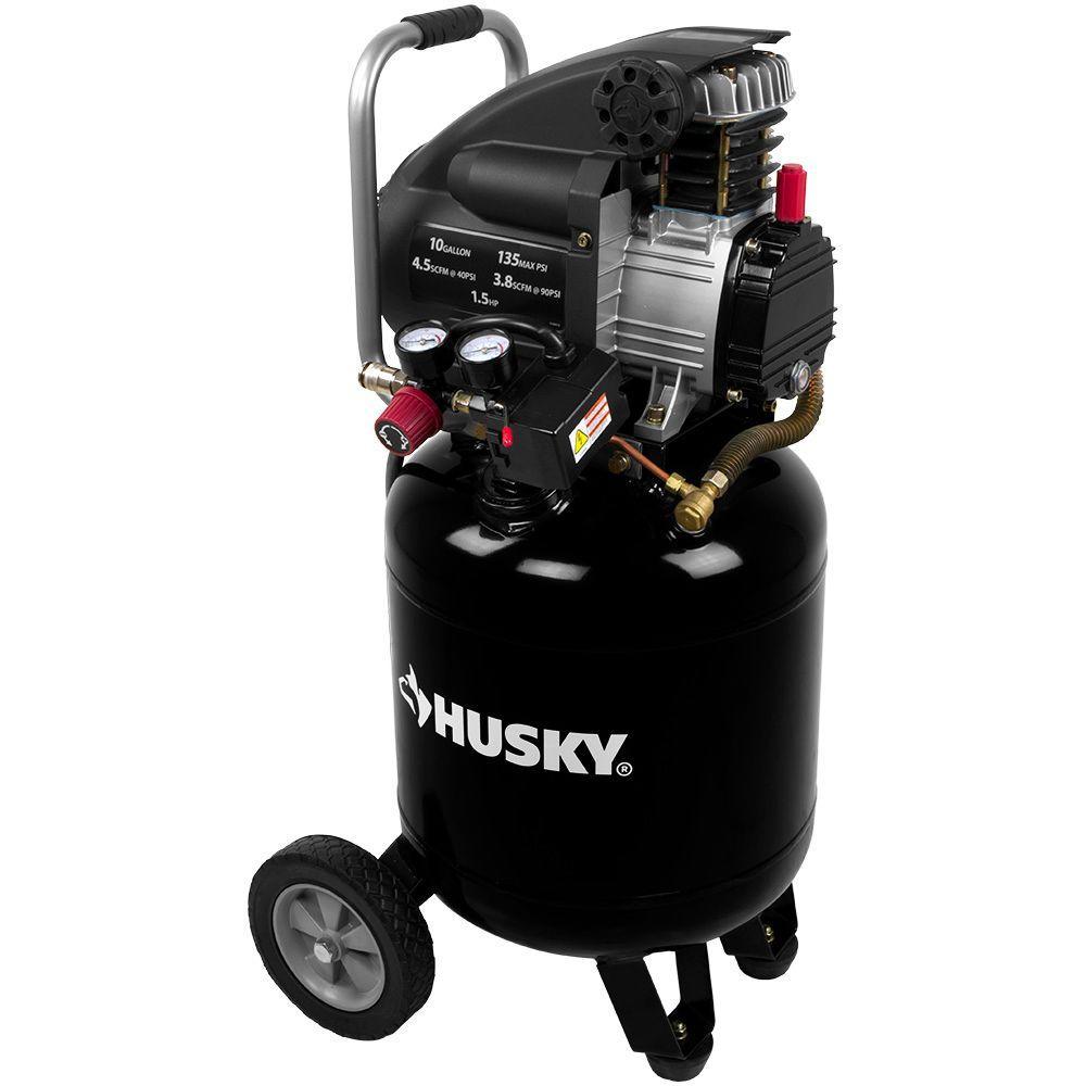 Husky 10 Gal Portable Electric Air Compressor L210vwd The Home Depot