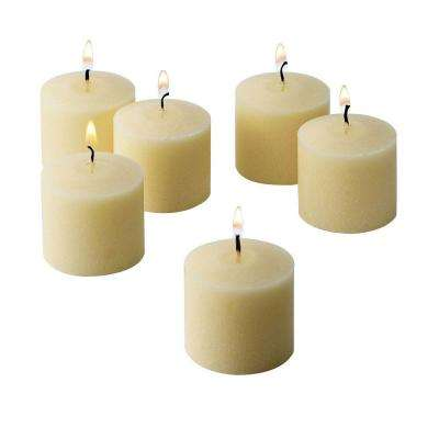 10 Hour French Vanilla Scented Votive Candles (Set of 12)
