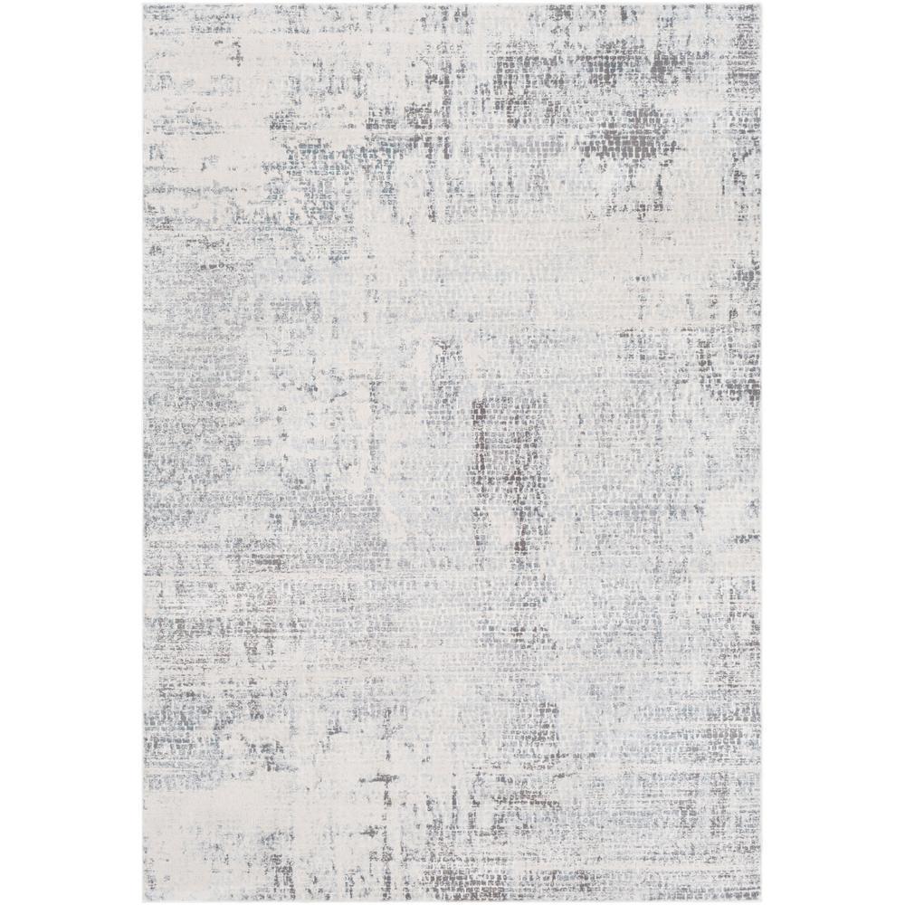 Sabri Silver/Grey 2 ft. x 3 ft. Abstract Area Rug