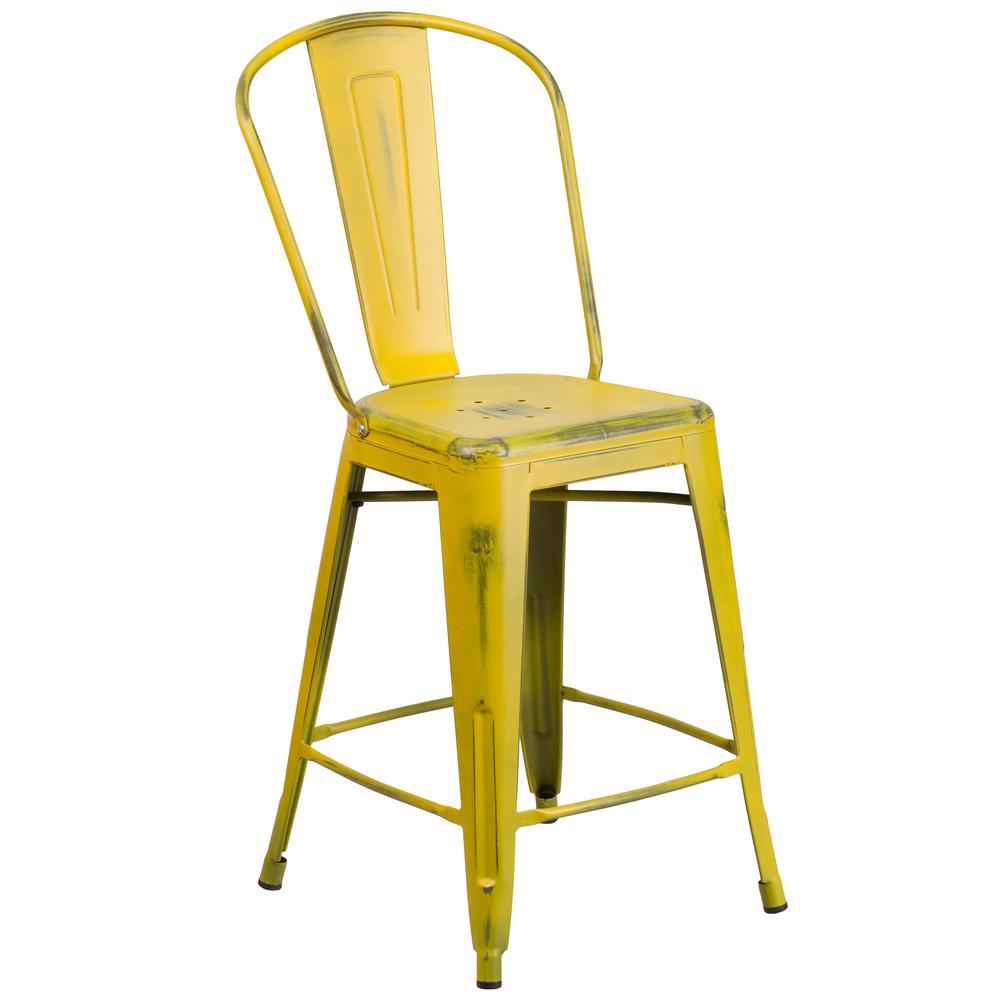 Yellow Stools Furniture. Distressed Yellow Bar Stool Stools Furniture G