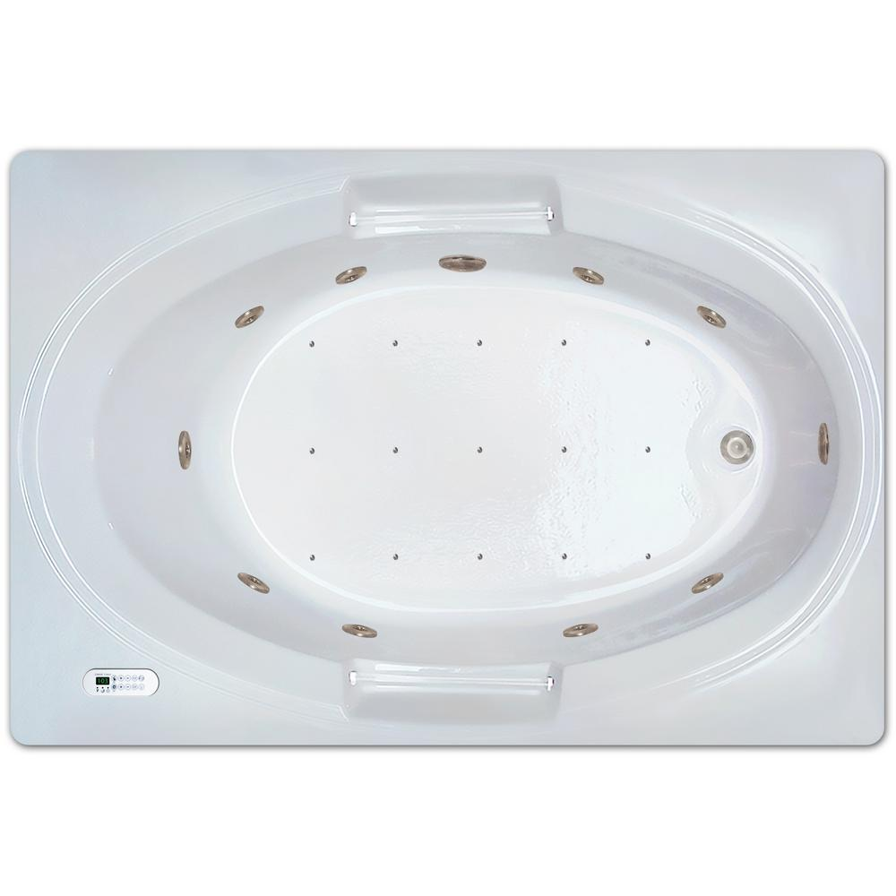 5 ft. Rectangle Left Drain Drop-in Rectangular Whirlpool and Air Bath