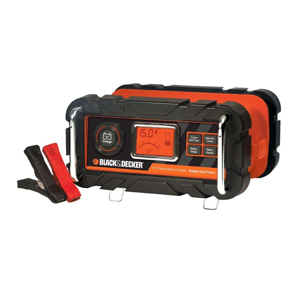 Black Decker 15 Amp Battery Charger With 40 Engine Start