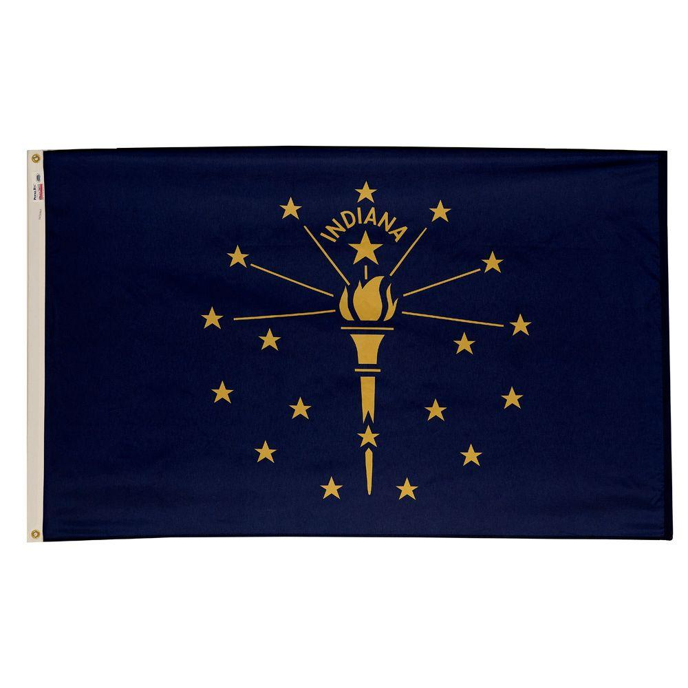 3 ft. x 5 ft. Nylon Indiana State Flag