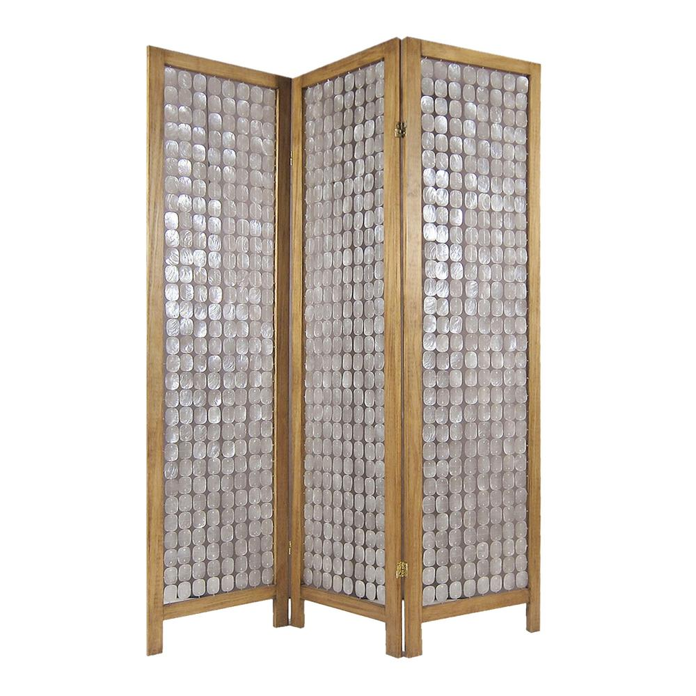 Screen Gems Multi Panel Room Divider Brown Clear