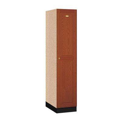 11000 Series 16 in. W x 76 in. H x 21 in. D Single Tier Solid Oak Executive Locker in Medium Oak