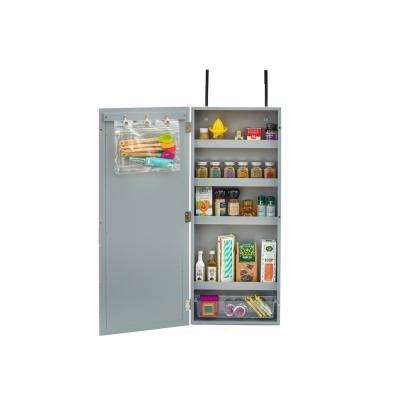 Gray Wall Cabinet Organizer with Chalkboard