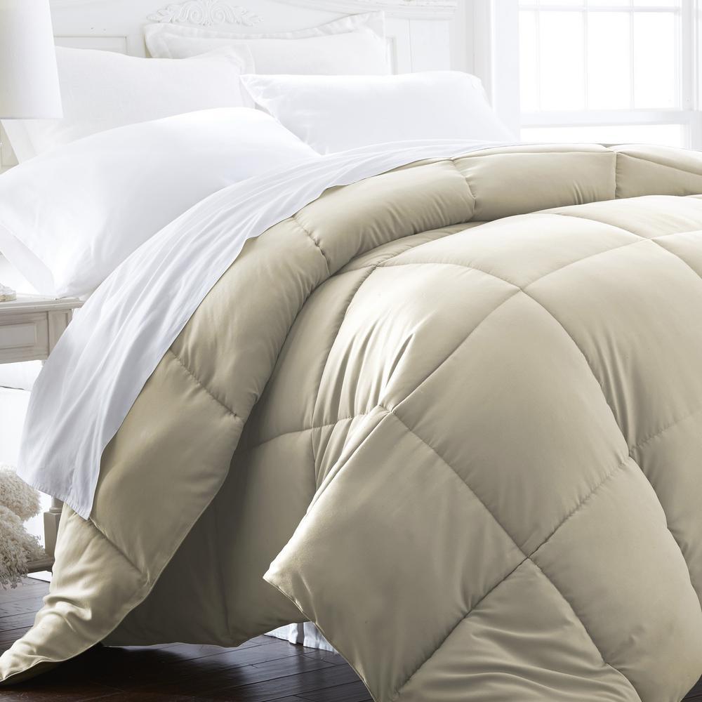 Performance Ivory Solid Queen Comforter