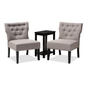 Phenomenal Baxton Studio Lerato Black And Gray Fabric Accent Chair And Andrewgaddart Wooden Chair Designs For Living Room Andrewgaddartcom