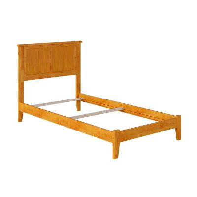 Madison Twin Traditional Bed in Caramel