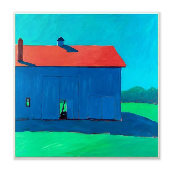 12 in. x 12 in.'' Colorful Luminous Painted Farm Barn'' by Carol Young Printed Wood Wall Art