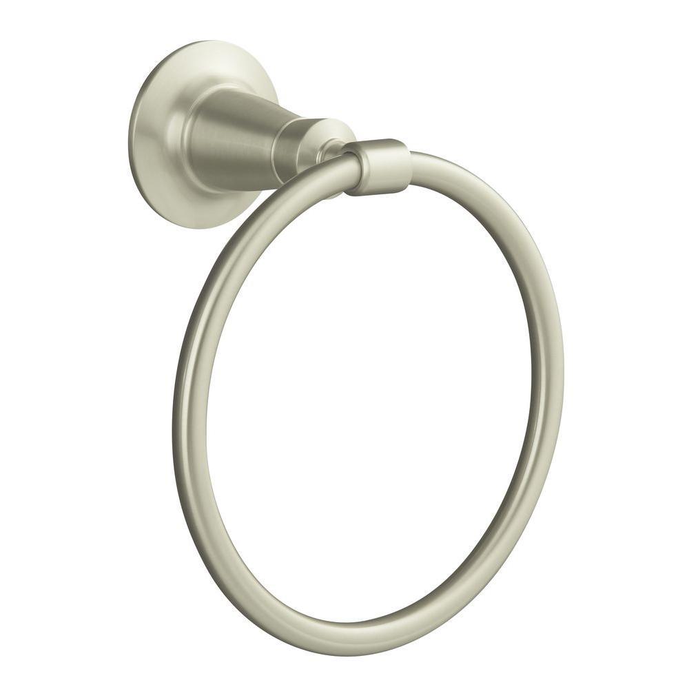 KOHLER Archer Towel Ring in Vibrant Brushed Nickel