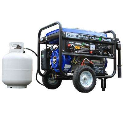 3500-Watt Dual Fuel Powered Electric Start Portable Generator with Wheel Kit