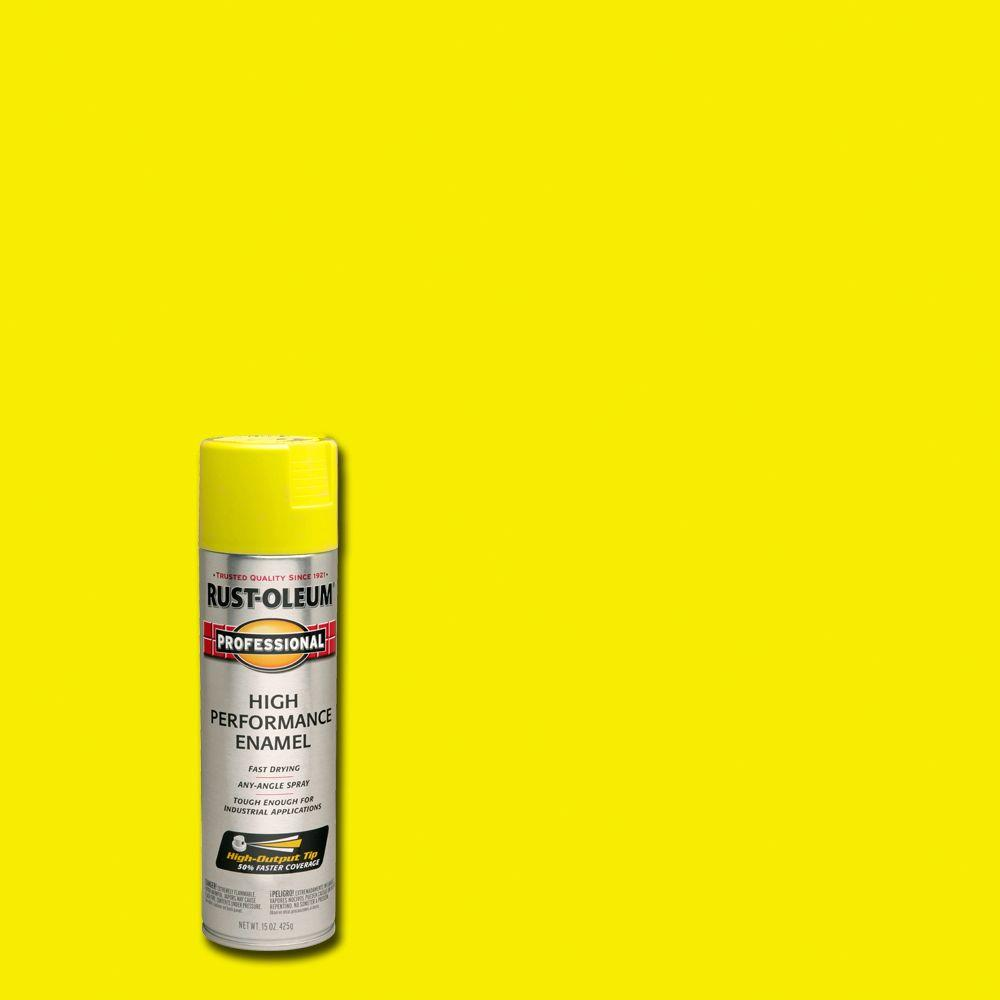 Rust-Oleum Professional 15 oz. High Performance Enamel Gloss Safety Yellow Spray Paint