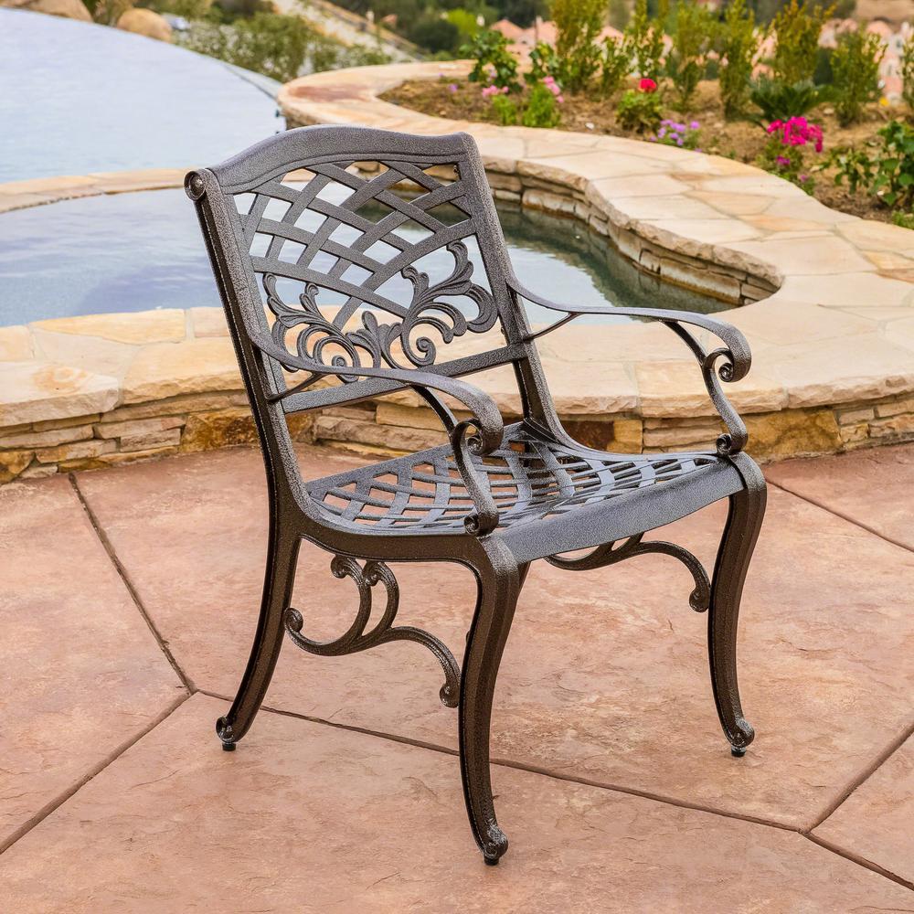 Sarasota Outdoor Kitchens: Noble House Sarasota Bronze Aluminum Outdoor Dining Chair