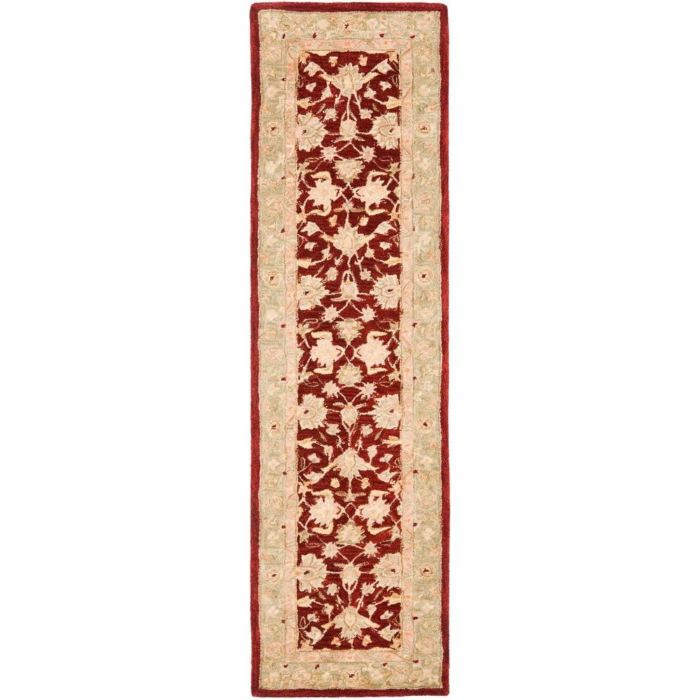 Safavieh Anatolia Red/Moss 2 ft. 3 in. x 8 ft. Runner