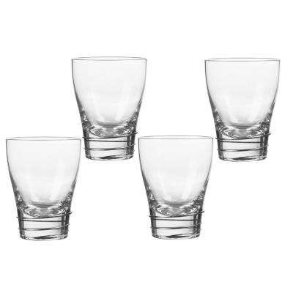 Helix Platinum 12 oz. Double Old Fashioned Glass (4-Piece Set)