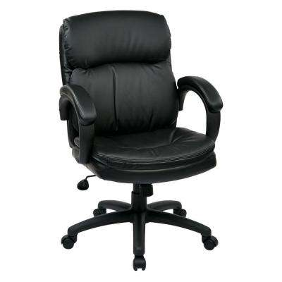 Black Eco Leather Mid Back Executive Office Chair