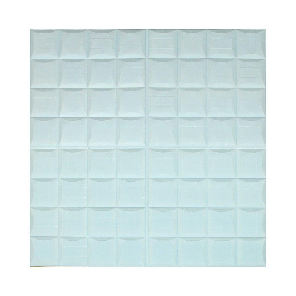Ejoy Blue 3D Small Square Pattern Sticker For Wall Decor 28 in. x 28 in. (20-piece) was $88.99 now $36.7 (59.0% off)