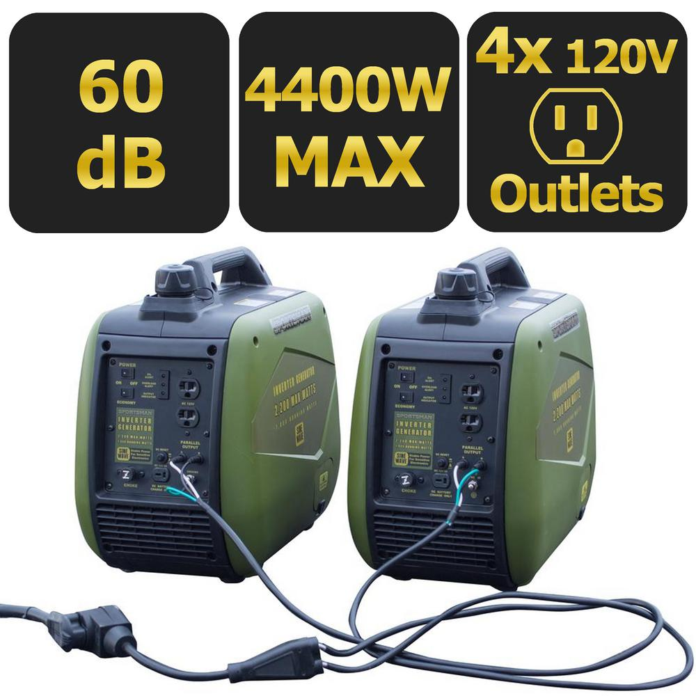 4,400/3,600-Watt Gasoline Powered Recoil Start Portable Digital Inverter