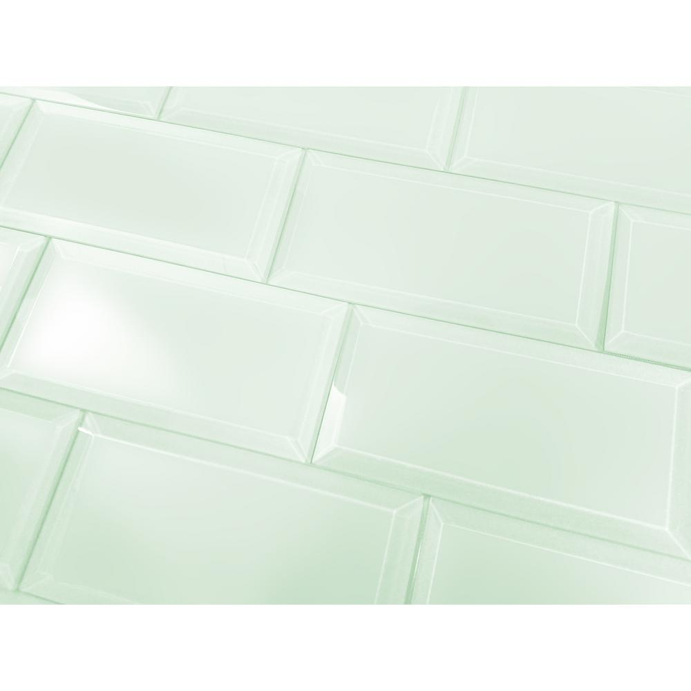 Abolos Frosted Elegance Mint Blue Subway 3 In X 6 In Matte Wall Tile 1 Sq Ft