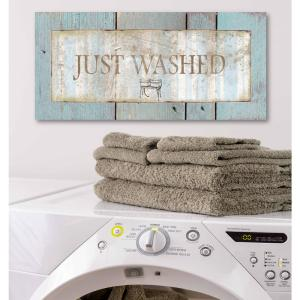 12 in. x 24 in. ''Laundry Room III'' Canvas Printed Wall Art
